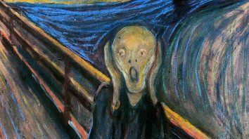 Fragmento de El grito, de Edvard Munch.