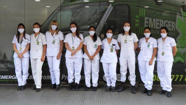 Las paramédicas que hoy trabajan en Emerger.
