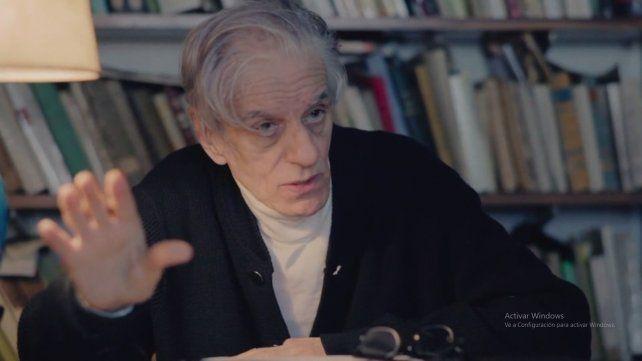El intelectual Juan José Sebreli es una de las personalidades de la cultura argentina y de la comunidad judía que aportaron sus testimonios al filme.