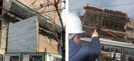 Dos obreros de la construcción heridos tras caer en obras céntricas