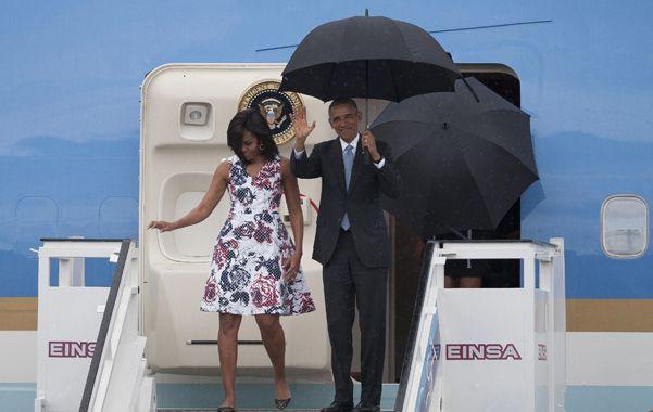 Obama al desembarcar en La Habana