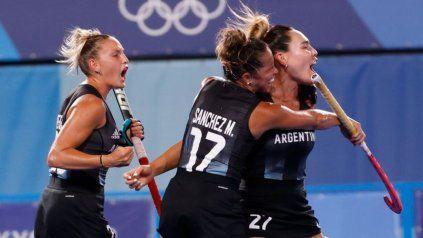 Las Leonas vencieron a India y van en busca de la medalla de oro ante Países Bajos
