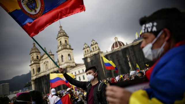 Una manifestación toma las calles en Colombia.