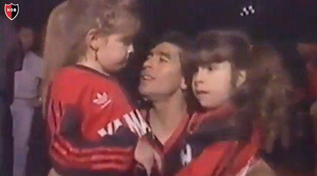 Newells festejó el aniversario de la llegada de Maradona con un emotivo video