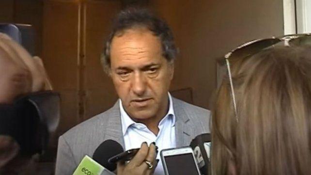 De mi vida privada no hablo, respondió Scioli sobre el escándalo con Berger