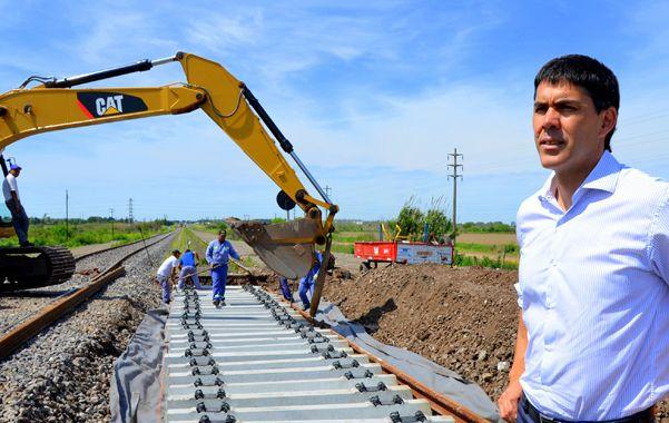 El secretario de Transporte recorrió las obras del ramal a Buenos Aires.