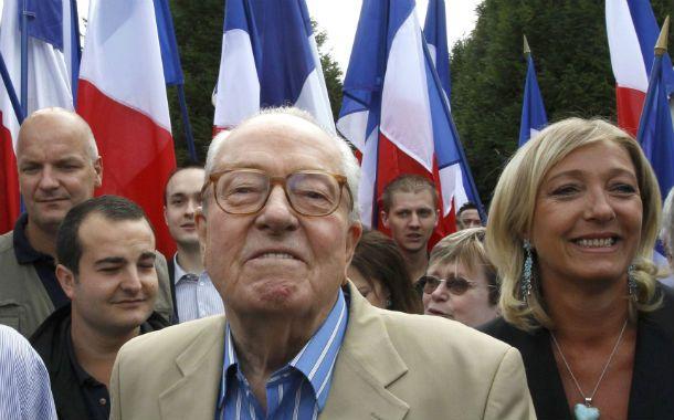 En baja. El fundador del FN esta peleado con su hija Marine Le Pen.