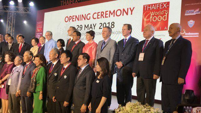 Lifschitz alista entre las autoridades presentes en la Thaifex, una de las ferias comerciales más importantes del mundo en Bangkok, Tailandia.