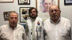 Víctor Lupo, del Movimiento Social del Deporte, el padre Pepe Di Paola, y Jorge Benedetti, de Generación Francisco.