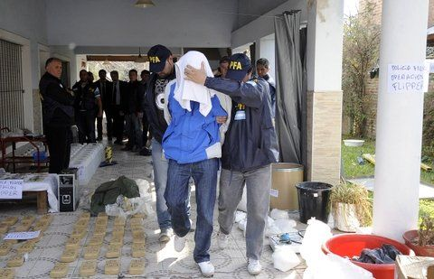 atrapado. El operativo en el que cayó preso Zacarías en un chalé de Funes.