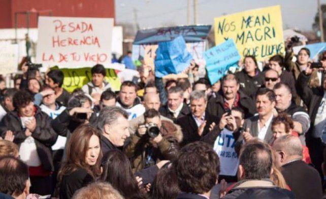 El auto del presidente fue agredido en agosto de 2016 en Mar del Plata.