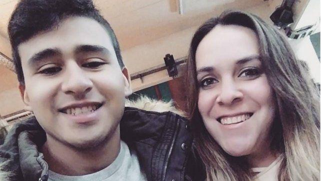 Tamara Ramírez (26) fue asesinada de un tiro en la cabeza por un ladrón que entró a su casa a robar. Mariano Albornoz (24)