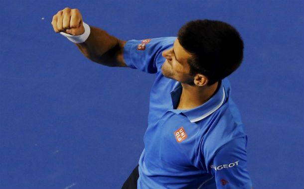 Festejo. Djokovic venció a Wawrinka.