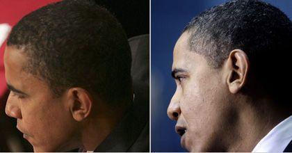 Obama ya tiene canas, seis semanas después de asumir el cargo