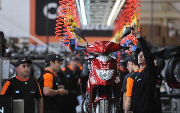 Clave. La producción local de motos creció a buen ritmo en los últimos años.