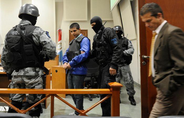 Chamorro durante un audiencia en los Tribunales de Rosario.