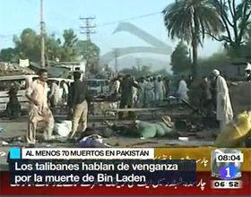 Casi 90 muertos en doble atentado suicida en Pakistán para vengar la muerte de Bin Laden