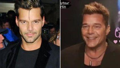 El antes y después de Ricky Martín, según las redes sociales.