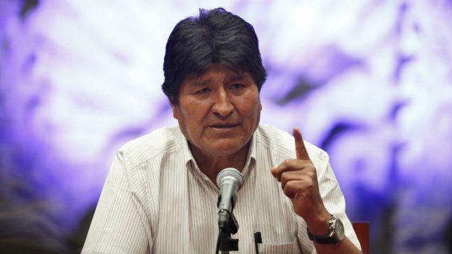 El ex mandatario boliviano habló desde México