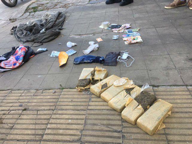 Un rosarino fue detenido en Casilda con más de 4 kilos de marihuana