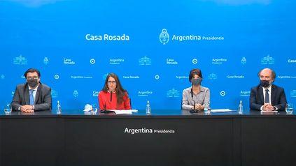 La ministra de las Mujeres, Géneros y Diversidad, Elizabeth Gómez Alcorta, presentó el programa.