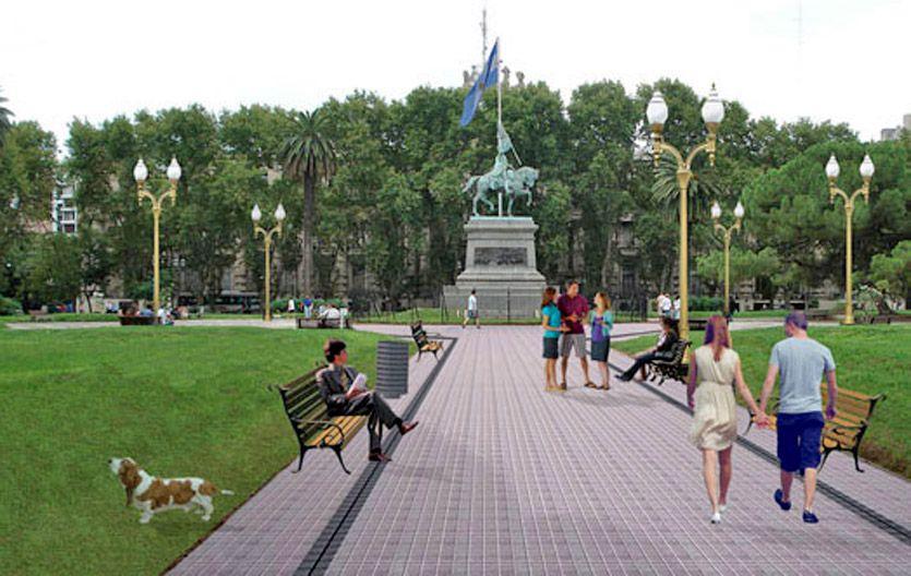 Hoy y mañana. Una foto actual y una imagen virtual del tradicional espacio de la ciudad.
