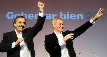 Alfonsín se mostró en público con su aliado De Narváez y criticó a Binner