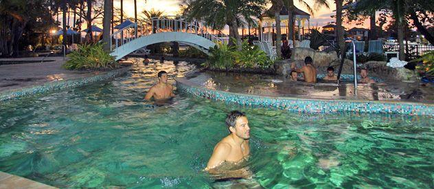 Los jugadores del seleccionado argentino de rugby se relajan en tierras australianas.