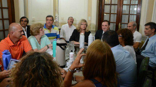 Los ministros Genesini y Balagué