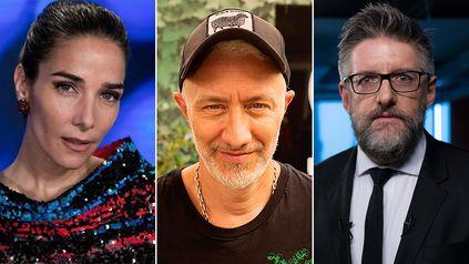 Juana Viale, Andy Kusnetsoff y Luis Novaresio, listos para la pelea por el rating del fin de semana.