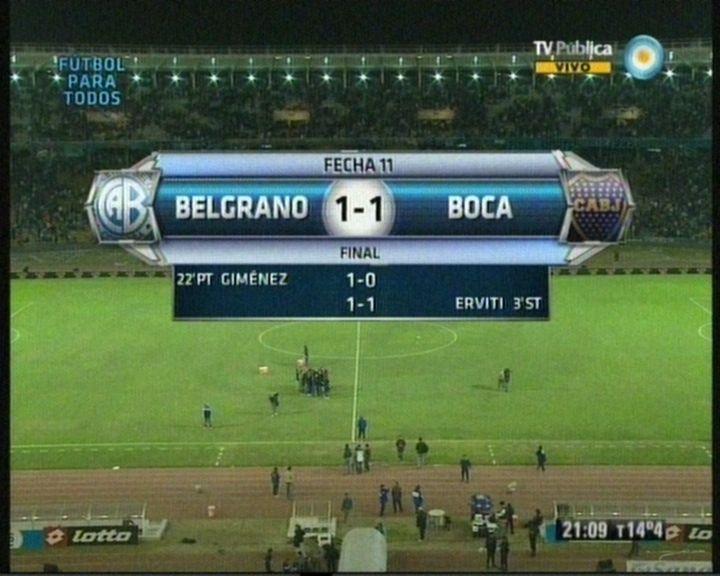 Boca sólo empató contra Belgrano y por ahora es el único puntero del Clausura