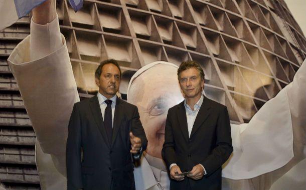 Duelo. Mauricio Macri se ve en el ballottage enfrentando a Daniel Scioli.