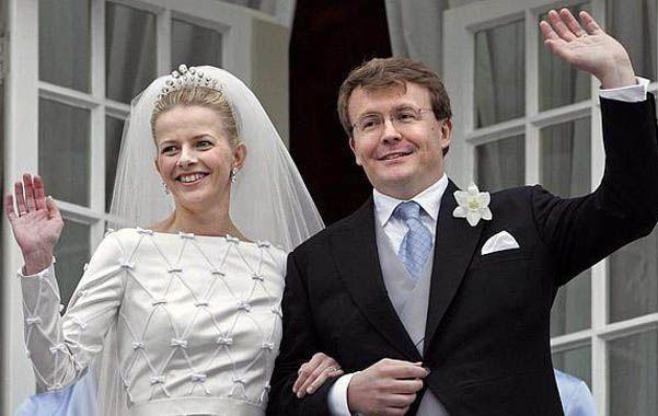 El príncipe y su esposa. Juan Friso y su mujer