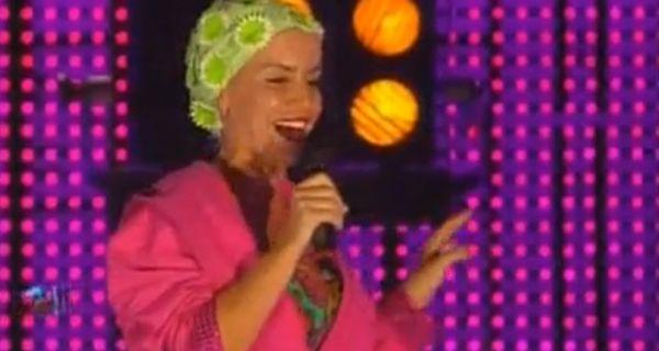 Flor Peña se mojó en el debut de Marley con Celebrity splash