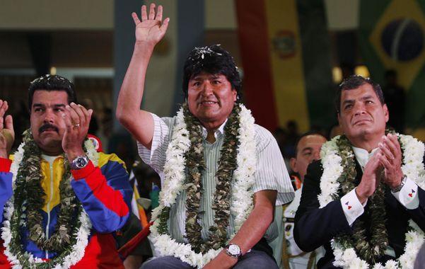 Muestras de apoyo. El venezolano Nicolás Maduro