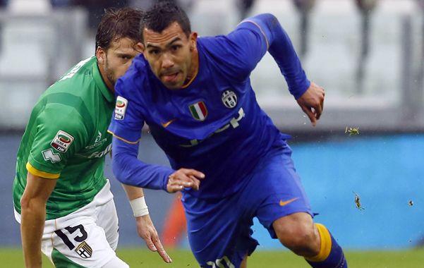 El Apache metió dos goles en el 7-0 de Juventus.