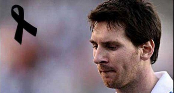 Messi se sumó al dolor y se solidarizó con las familias de las víctimas