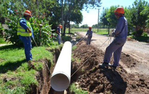 Inversión de 14 millones de pesos. La obra se inició en San Martín y Urquiza.