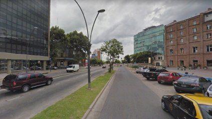 La zona de avenida Luis Cándido Carballo al 100, en Puerto Norte, donde se realizó uno de los allanamientos.