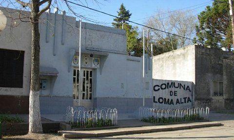 puertas cerradas. La sede comunal de la localidad de Loma Alta quedó sin autoridades ni trabajadores.