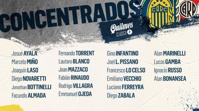 El Kily González convocó a 22 profesionales en esta ocasión.