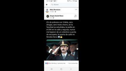 El posteo en el muro personal de la intendenta despertó la indignación de diversos sectores de la cabecera del departamento San Martín.