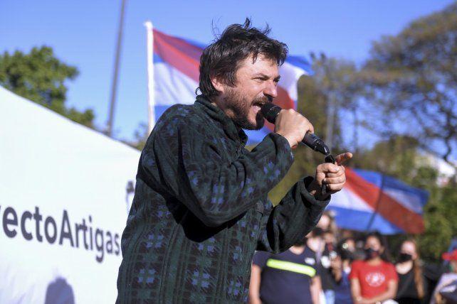 El dirigente social Juan Grabois defendió el Proyecto Artigas ante La Rural.