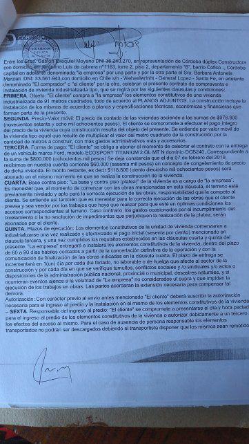 El contrato para la construcción de la vivienda en Wheelwright fue firmado en Córdoba, el 26 de agosto 2020.