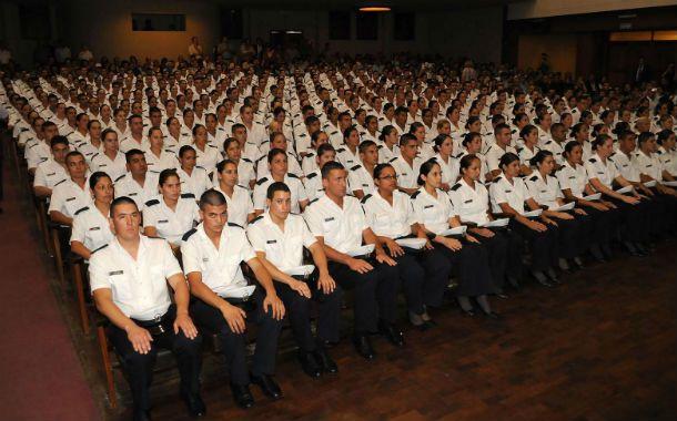 Los cadetes del Instituto de Seguridad Pública (Isep) llevan adelante una formación que demanda tres años de estudios.