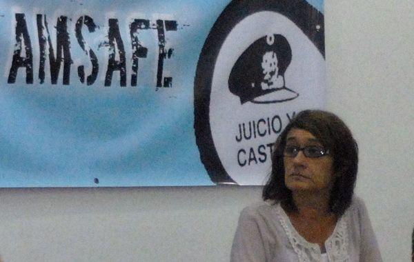 La titular del gremio docente pide la reapertura de paritarias. (Foto: R. Paroni)