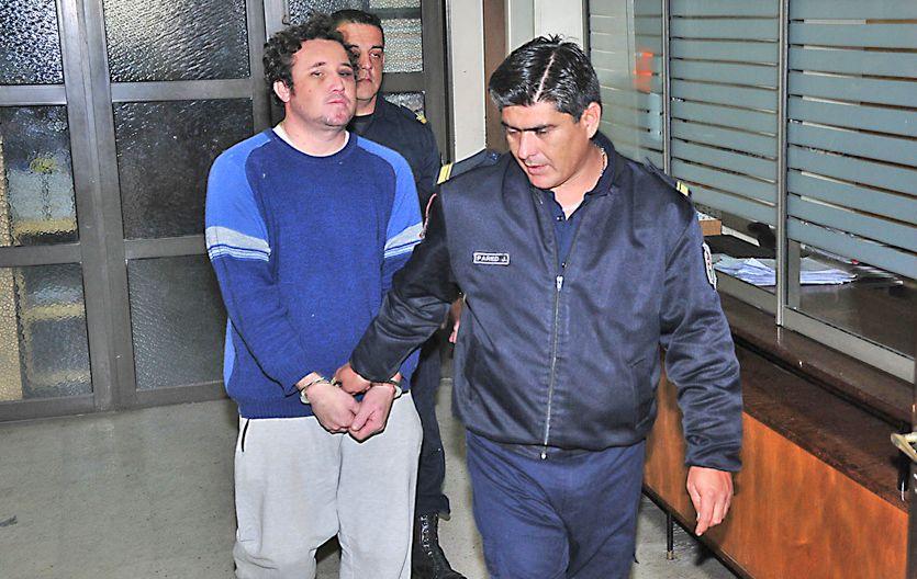Preso. Silvio Díaz cuando fue detenido en junio por atropellar a un chico.