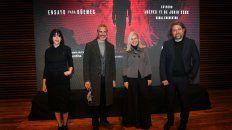 Martina Garello, Leonardo Sbaraglia, Mercedes Morán y el director Daniel Rosenfeld.