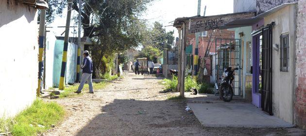 El lugar donde cayó mortalmente el joven herido de tres balazos. (Foto: S.Salinas)
