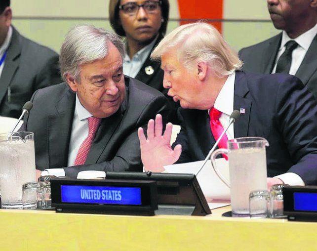 de acuerdo. Guterres y Trump coinciden en reformar el organismo.